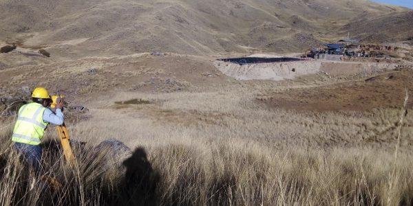 """Levantaminto topográfico de detalle para la construcción de la relavera N° 02 """" Planta de beneficio BEDREGAL"""""""
